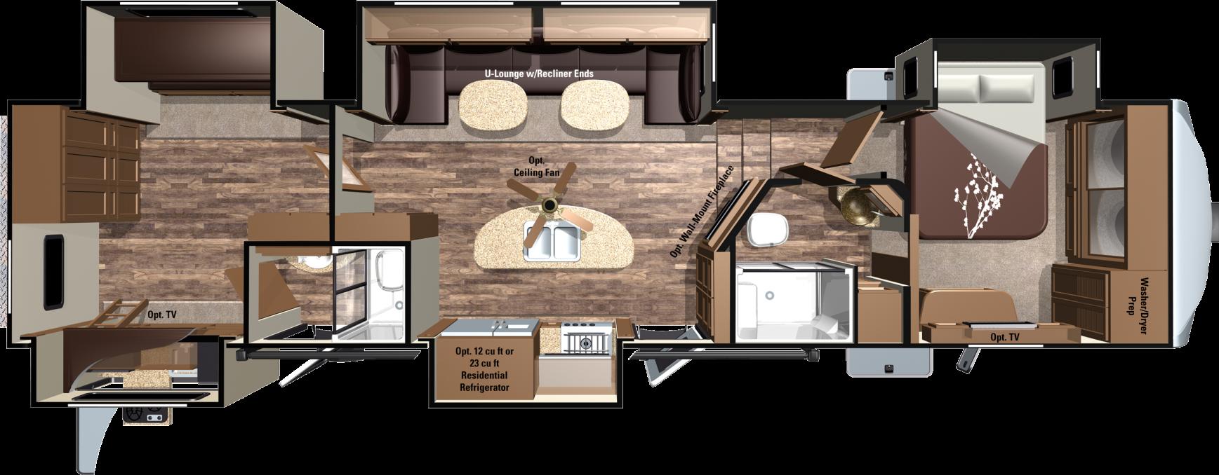 Roamer Rf384bhs Floorplan Open Range House Styles Rv For Sale