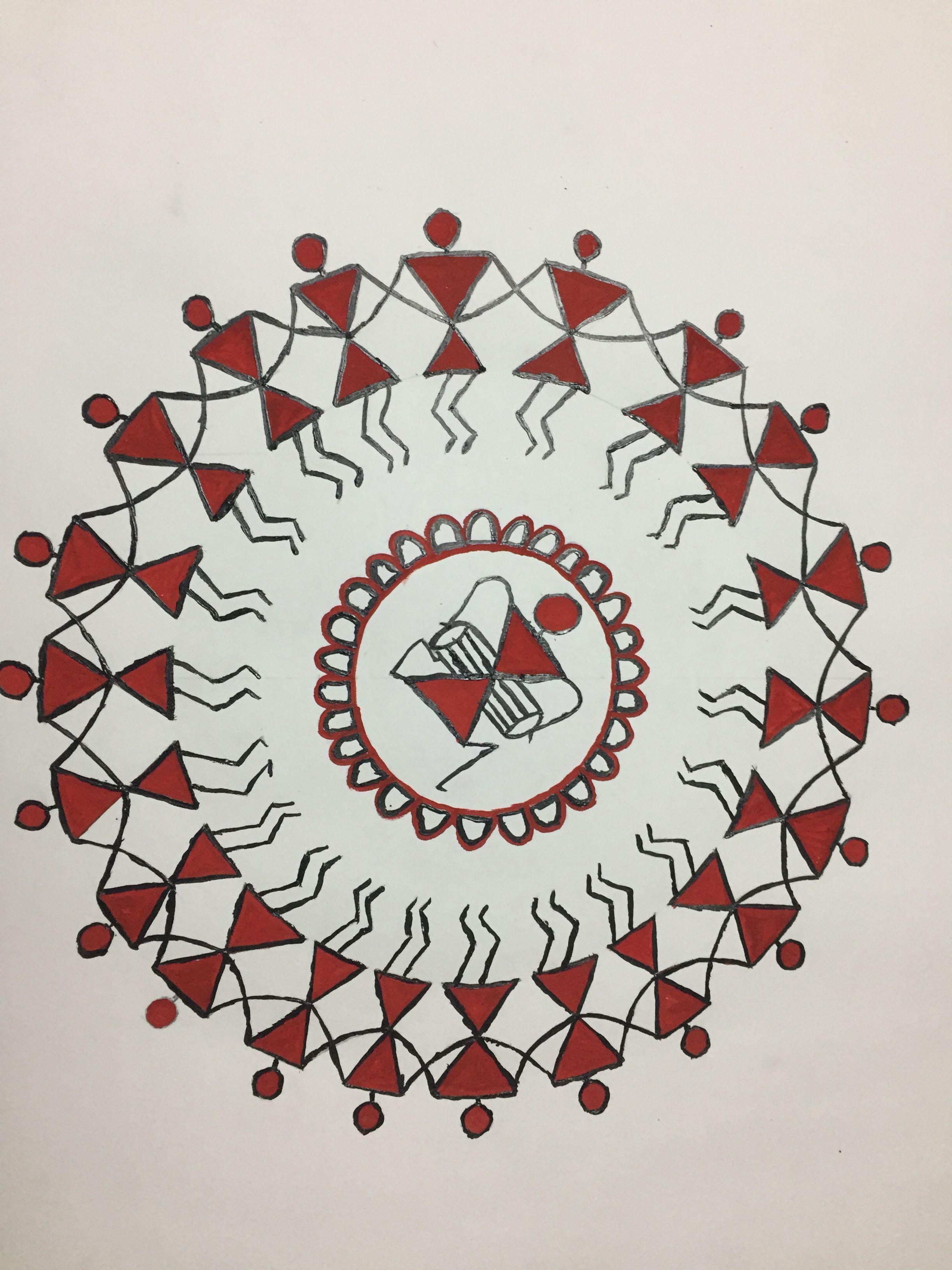 Warli Painting Easy Warli Painting Warli With White Background