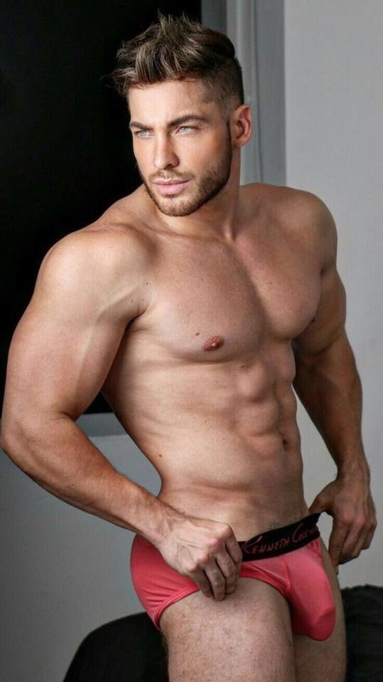 Male Model Good Looking Beautiful Man Guy Hot Sexy Handsome Eye Candy Beard Muscle Hunk Abs Sixpack Shirtless Undies Underwear