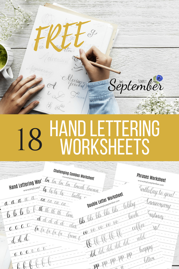 How to Master Hand Lettering in No Time!- Free Challenge & Worksheets - Simply September
