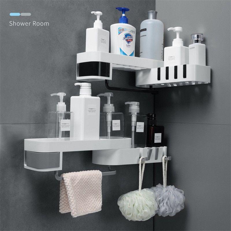 Rotating Shower Caddy In 2020 Shower Shelves Bathroom Gadgets Shower Holder