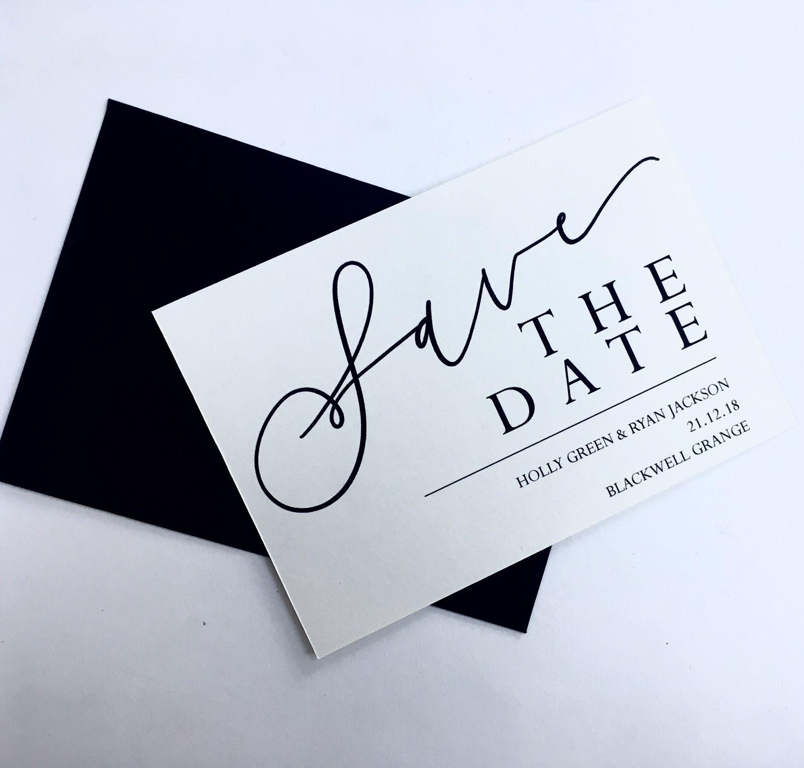 Save the Date Millie Stone UK Beautiful wedding
