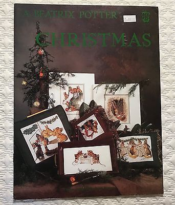 Beatrix Potter Christmas Cross Stitch Pattern Green Apple 6 Designs Rare OOP New