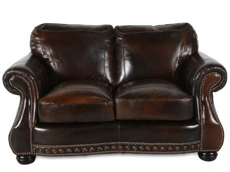 Vplw 8755 20 Cowboy Usa Leather Loveseat Mathis Brothers Furniture