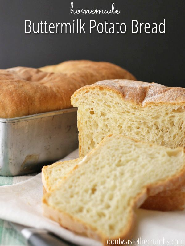 Potato Buttermilk Bread Recipe Buttermilk Bread Bread Recipes Homemade Leftover Mashed Potatoes