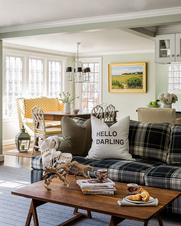 Plaid Furniture Country Living Room: Cool Designer Alert- Jill Goldberg!