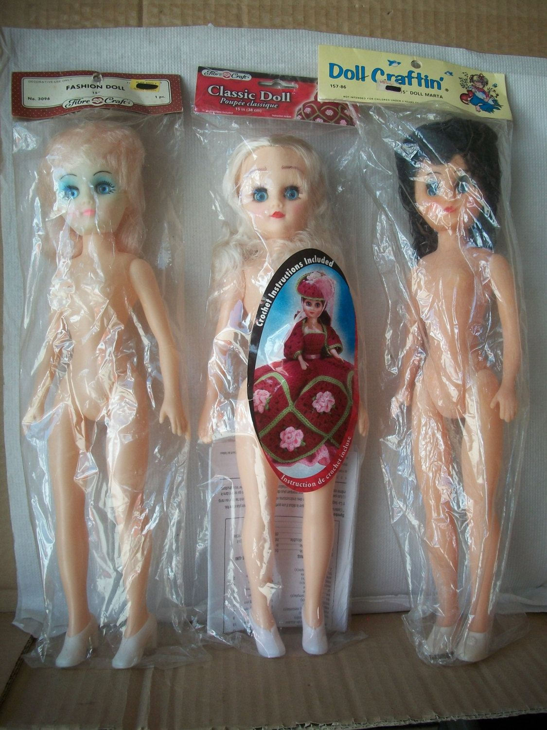 3 Sets 2 Inch Fibre Craft Doll Heads /& Hands blonde