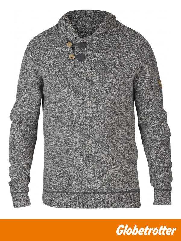 4671aabce5 Fjällräven Lada Sweater Männer | Strickpullover aus Lammwollgemisch mit  klassischem Schalkragen und leicht meliertem Garn.