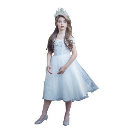 067e226fcc Girls White Satin Off-Shoulder Junior Bridesmaid Dress  bridesmaiddresses