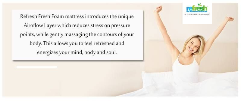 Best Memory Foam Mattress Of Refresh Mattress Supports Your Body To Reduce Pressure And Shapes According To Your Ba Foam Mattress Memory Foam Mattress Mattress