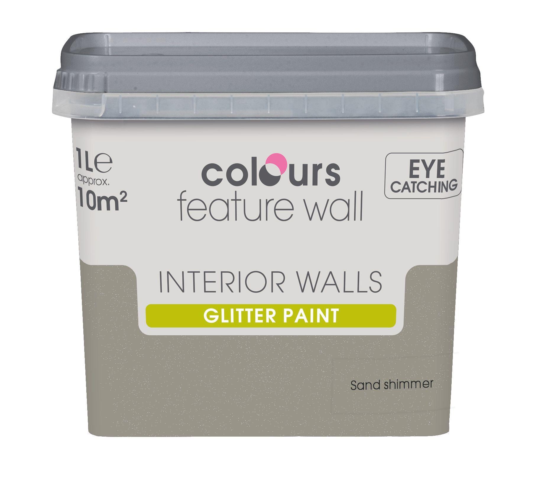 Colours Feature Wall Sand Shimmer Glitter Emulsion Paint