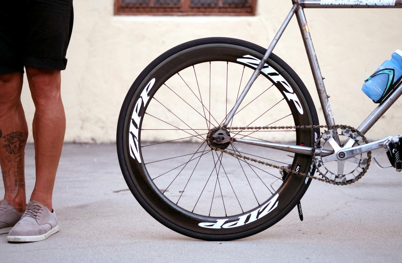 Chas Cinelli Mash Work Bike With Zipp Firecrest 404 Track Wheels