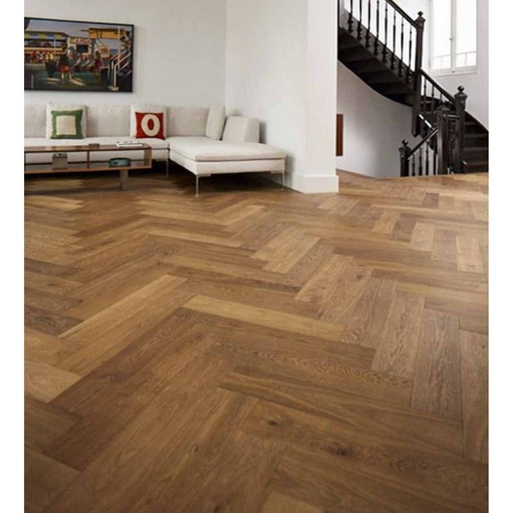 150mm Golden Brushed And Uv Oiled Click Herringbone Engineered Oak Wood Flooring 14 3mm Thick Engineered Wood Floors Herringbone Wood Floor Engineered Parquet