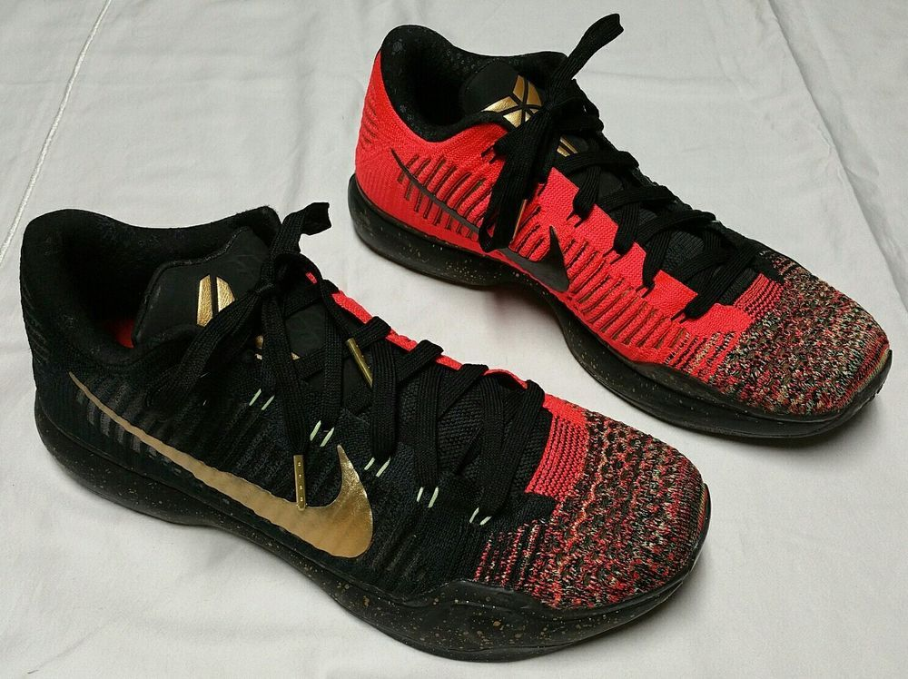 eae15c408214 Nike Kobe 10 X Elite Low Christmas Edition Shoes Men 10.5 black   metallic  gold  Nike  BasketballShoes