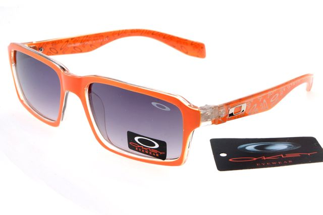 orange oakleys  Oakley Deringer Sunglasses Orange Frame Gray Lens 0238