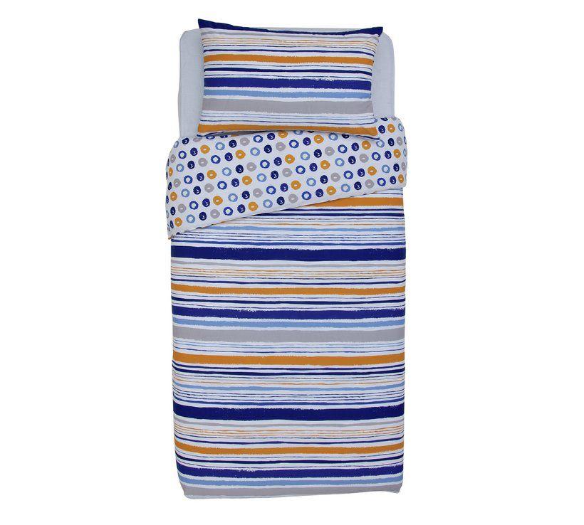 Home Dark Multicoloured Stripe Bedding Set - Single | Kids ...