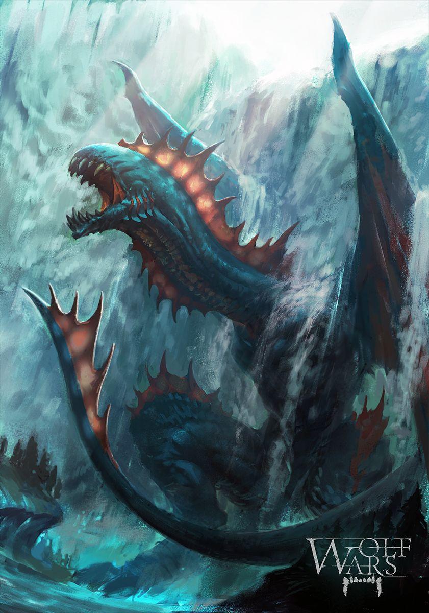 Water Dragon by rawwad.deviantart.com on @deviantART ...  Water Dragon by...
