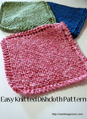 Knit Dishcloth Pattern Super Easy Great Idea For A Handmade