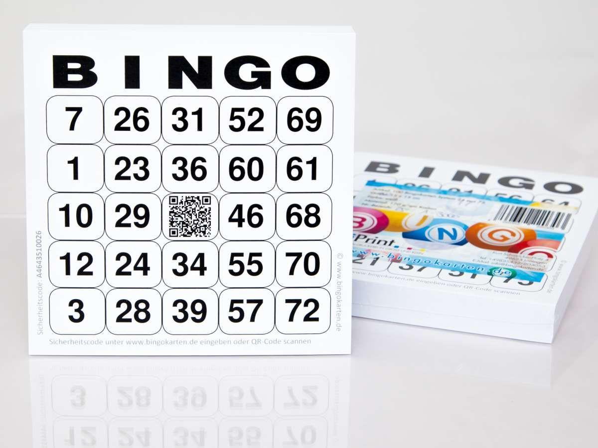 Bingokarten für Senioren 75er System
