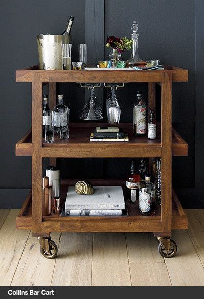 bar cart crate and barrel home deco pinterest partykeller ideen f r die k che und. Black Bedroom Furniture Sets. Home Design Ideas