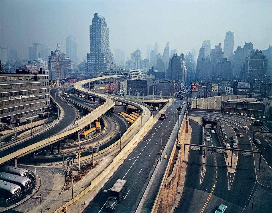 a series of highways flowing through the heart of manhattan s west side 1964 photography. Black Bedroom Furniture Sets. Home Design Ideas