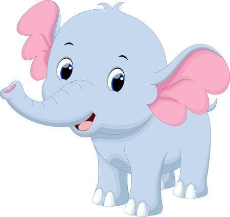 Lindo Bebe De Dibujos Animados De Elefantes Imagenes Infantiles De Animales Caricaturas De Animales Elefantes
