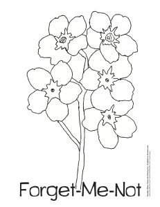 Clipart Forget Me Not Flowers Google Search Knutselen