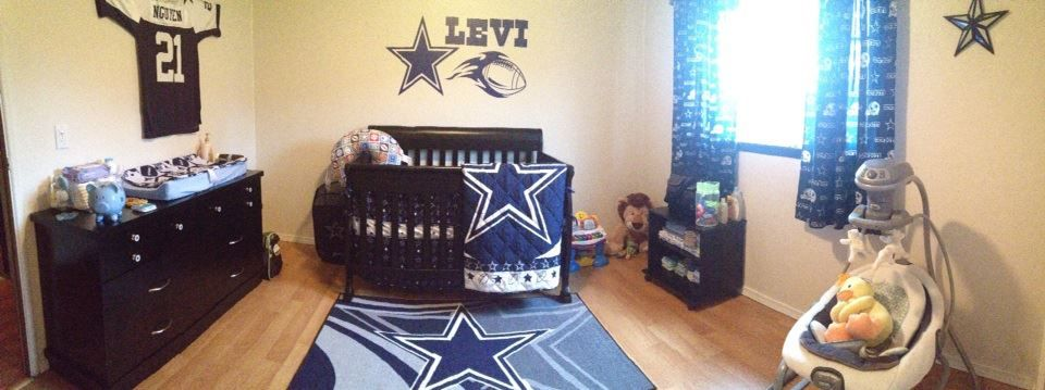 My Completed Dallas Cowboys Baby Nursery Sports Boy
