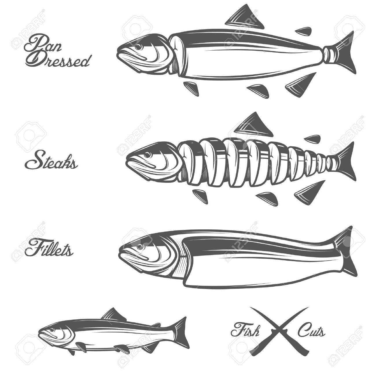 Stock Vector Fish, Fillet, Stock vector