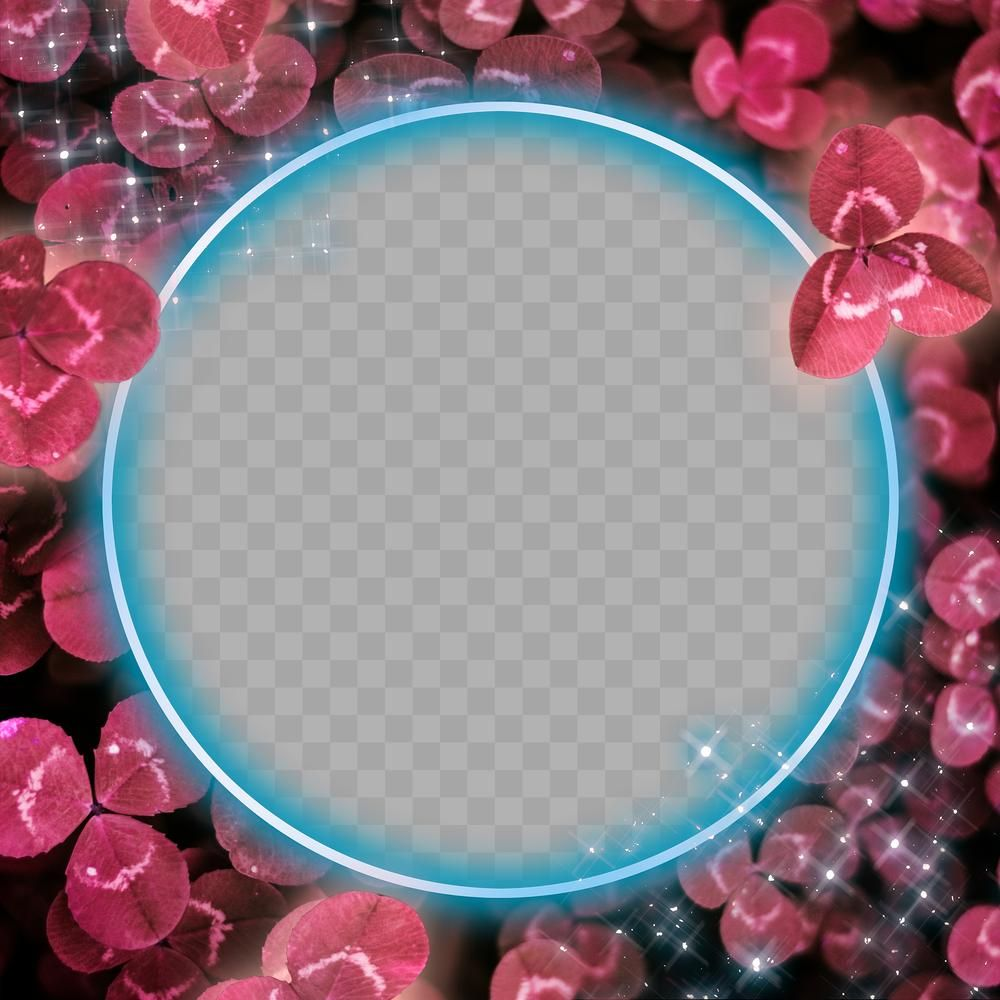 Red Neon Clover Frame Png Free Image By Rawpixel Com Paeng Overlays Transparent Frame Png