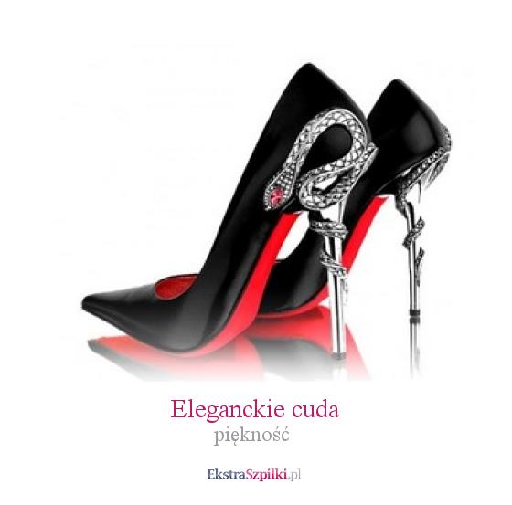 Szpilka Czarne Eleganckie Cuda Pieknosc Heels Green Heels Fabulous Shoes