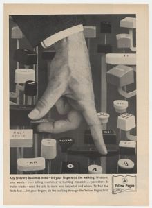 1963 Bell Phone Yellow Pages Ad...Let Your Fingers Do The Walking