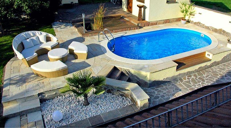 So schön kann die eigene Wellness Oase im Garten aussehen. #pool #garten #wellness #poolimgartenideen