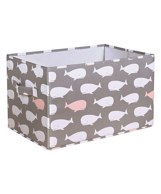 Gray & Pink Whale Collapsible Storage Box - Set of Three