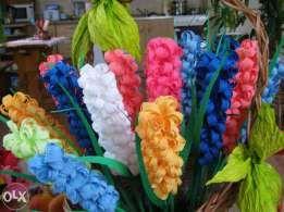Kwiaty Z Bibuly Krepy Krepiny Palma Wielkanocna