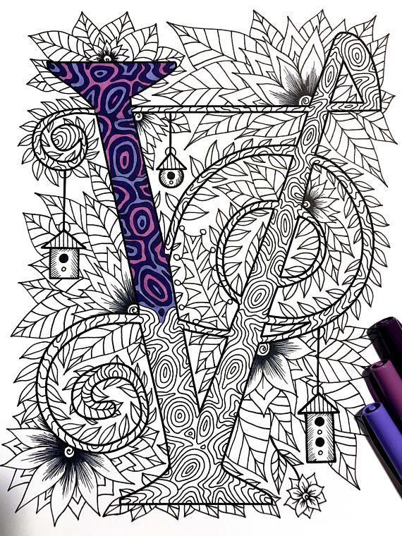 Letter V Zentangle Inspired By The Font Quot Penelope