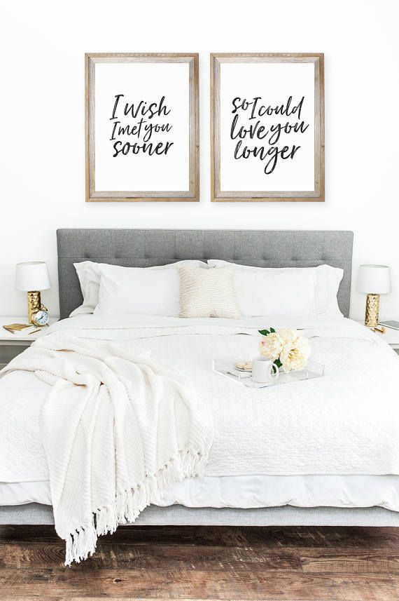 bedroom decor, bedroom wall art, set of 2 prints, bedroom