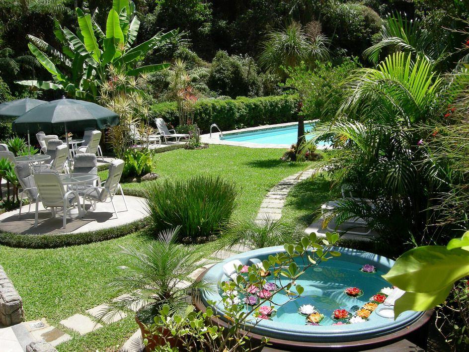 jardim com piscinas jardim piscina pinterest piscina