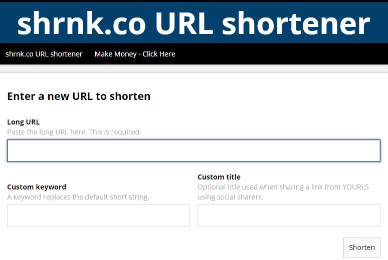 Shorten your long ugly link  shrink co url shortener | Network