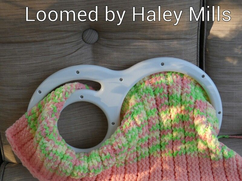 Loomed Baby Blanket My Looming Projects Pinterest Blanket