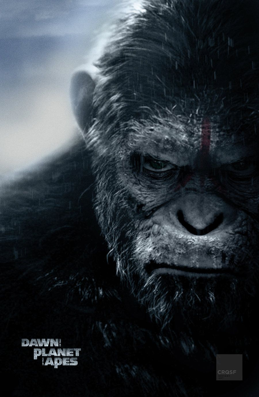 Dawn Of The Planet Of The Apes Fan Poster By Crqsf On Deviantart Planet Of The Apes Dawn Of The Planet Apes