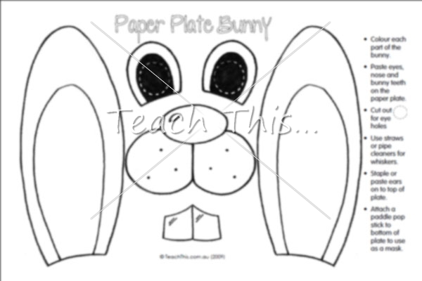 Paper Plate Bunny - Easter Teacher Resources Worksheets and Activities  Teacher Resources and Classroom Games  sc 1 st  Pinterest & Easter Projects That Are Cool | Products u003eu003e Easter u003eu003e Calendar ...