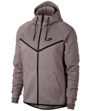 98a02870170 Nike Men s Sportswear Tech Fleece Windrunner Zip Hoodie - Pink 2XL ...