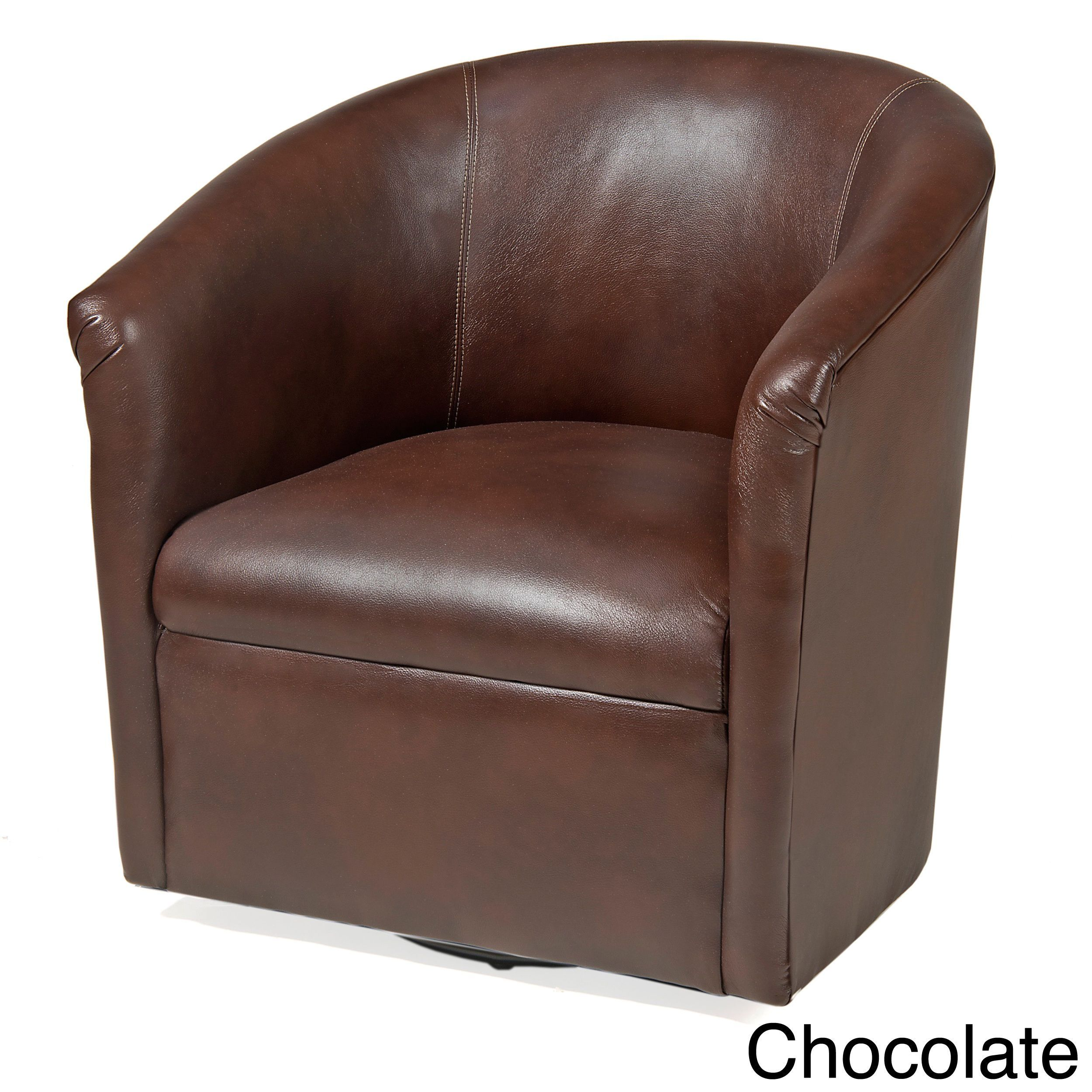 Greyson Living Riva Swivel Accent Chairs Black Faux Leather