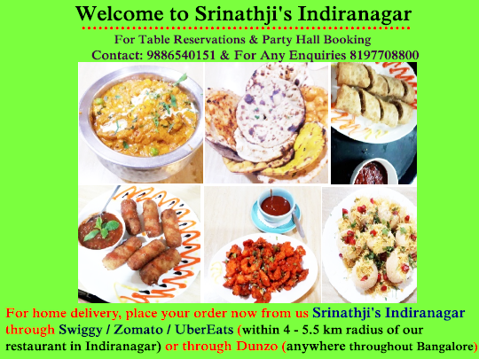 Srinathji S Indiranagar Welcomes You To Experience India S Most Unique Hygienic Veg Multi Cuisine Di Vegan Restaurants Veg Restaurant Vegan Restaurants Near Me