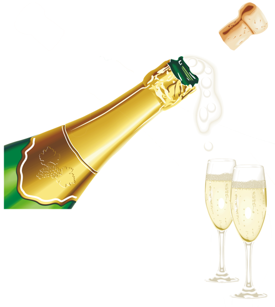 New Year Champagne With Glasses Png Clipart Picture Clip Art Happy New Year Png Champagne