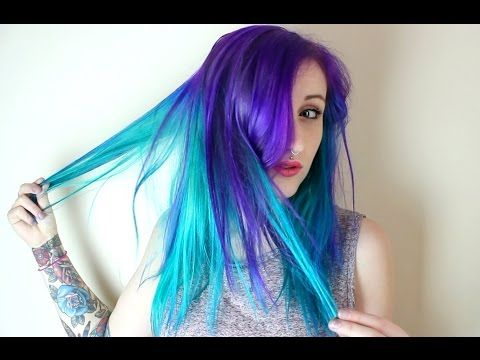042c11fc1e0 How To  Purple to Teal Hair Color Melt
