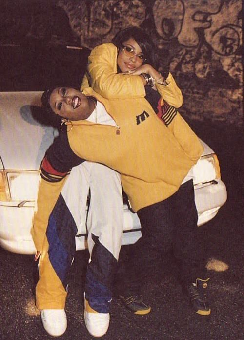 """Missy and Aaliyah """"When I first met Missy, I knew there was a connection. She knew my style"""" -Aaliyah."""