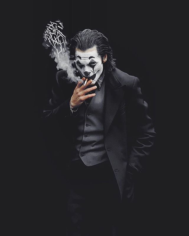 Black Have You Watched Joker Yet Joker Painting Joker Images Joker Pics