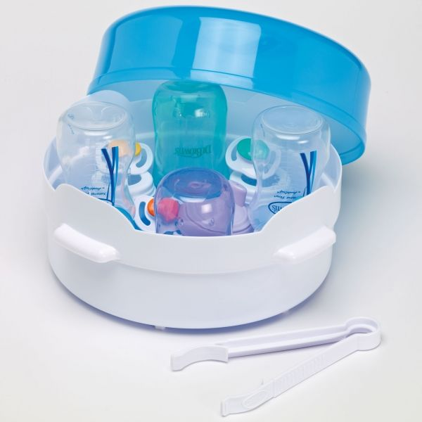 Microwave Steam Sterilizer Safely Sterilizes 4 Dr Brown S Bottles Even Pacifiers Or